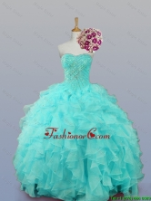 Pretty 2016 Summer Sweetheart Quinceanera Dresses with Beading and Ruffles SWQD007-1FOR