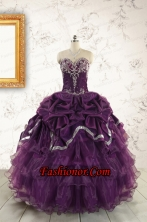Pretty Purple Quinceanera Dresses with Appliques For 2015 FNAO5592FOR