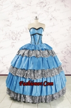 Unique Beading Sweetheart Ball Gown Quinceanera Dresses for 2015 FNAO034FOR