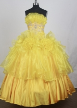 2012 Modest Ball Gown Strapless Floor-Length Quinceanera Dresses Style JP42630