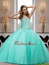 2015 Fall Elegant Aqua Blue Sweetheart Quinceanera Dresses with Beading SJQDDT68002FOR