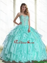 2015 Summer Perfect Sweetheart Quinceanera Dresses with Beading and Appliques SJQDDT54002FOR