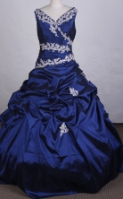 Affordable Ball gown V-neck Floor-length Quinceanera Dresses Style FA-C-045