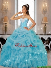 Beautiful 2015 Winter Beaded Quinceanera Dresses in Baby Blue SJQDDT81002FOR