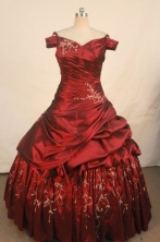 Beautiful Ball Gown Off The Shoulder Neck Floor-length Quinceanera Dresses Embroidery Style FA-Z-030