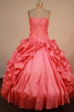 Beautiful Ball Gown Sweetheart Floor-length Quinceanera Dresses Appliques Style FA-Z-0293