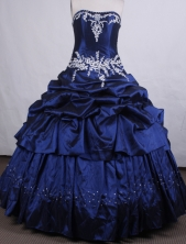 Beautiful Ball gown Strapless Floor-length Quinceanera Dresses Style FA-C-028