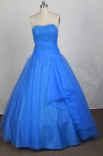 Beautiful Ball gown Strapless Floor-length Quinceanera Dresses Style FA-W-r49