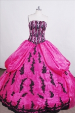 Classical Ball gown Strapless Floor-length Quinceanera Dresses Style FA-C-077