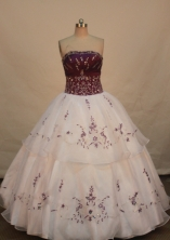 Classical Ball gown Strapless Floor-length Quinceanera Dresses Style FA-W-230