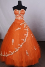 Classical Ball gown Sweetheart-neck Floor-length Quinceanera Dresses Style FA-C-085