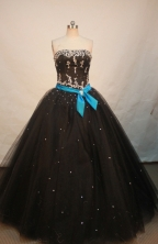 Discount Ball gown Strapless Floor-length Quinceanera Dresses Style FA-W-258