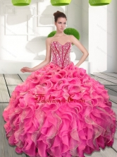 Dynamic Beading and Ruffles Sweetheart 15 Quinceanera Dresses QDDTA66002FOR