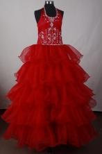 Elegant Ball Gown Halter Floor-length Pink 15 Quinceanera Dress LJ2629