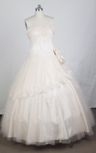Elegant Ball Gown Sweetheart Floor-length Champagne Quinceanera Dress LZ426002