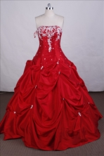 Elegant Ball gown Strapless Floor-length Quinceanera Dresses Style FA-C-048