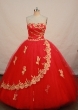 Elegant Ball gown Strapless Floor-length Quinceanera Dresses Style FA-W-235