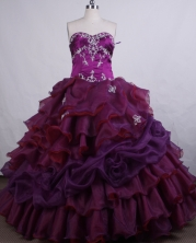 Elegant Ball gown Sweetheart-neck Floor-length Quinceanera Dresses Style FA-C-029