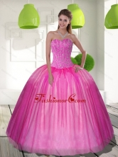 Elegant Beading Sweetheart Ball Gown 15 Quinceanera Dresses QDDTD26002FOR