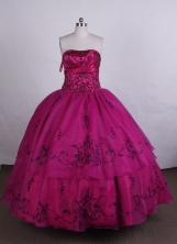 Exquisite Ball gown Strapless Floor-length Quinceanera Dresses Style FA-C-055
