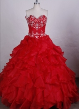 Exquisite Ball gown Sweetheart-neck Floor-length Quinceanera Dresses Style FA-C-039