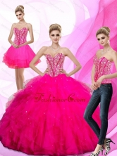 Gorgeous Beading and Ruffles Sweetheart 15 Quinceanera Dresses QDDTA73001FOR