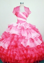 Gorgeous Ball Gown Strapless Floor-Length Hot Pink Beading Quinceanera Dresses Style FA-S-289