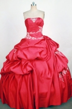 Gorgeous Ball Gown Strapless Floor-Length Hot Pink Beading  Quinceanera Dresses Style FA-S-323