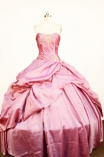 Gorgeous Ball Gown Sweetheart Neck Floor-Length Light Pink Beading Quinceanera Dresses Style FA-S-287