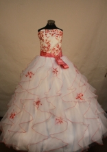 Gorgeous Ball gown Strapless Floor-length Quinceanera Dresses Style FA-W-275