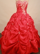 Low price ball gown sweetheart-neck floor-length quinceanera dreses Style X0424105