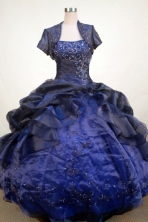 Luxurious Ball Gown Strapless Floor-Length Blue Appliques Quinceanera Dresses Style FA-S-348