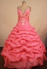 Luxurious Ball Gown Straps Floor-length Quinceanera Dresses Appliques Style FA-Z-0297