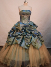 Luxurious Ball gown Strapless Floor-length Quinceanera Dresses Style FA-W-212