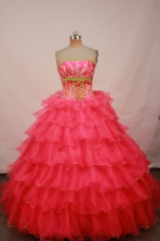 Luxurious Ball gown Strapless Floor-length Quinceanera Dresses Style FA-W-217