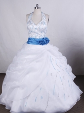 Modest Ball gown Halter top neck Floor-length Quinceanera Dresses Style FA-C-082