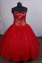 Modest Ball gown Sweetheart-neck Floor-length Quinceanera Dresses Style FA-C-051