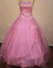 Modest ball gown sweetheart-neck floor-length net appliques lavender quinceanera dresses FA-X-103