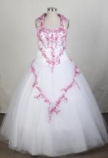 Perfect A-line Halter Top Floor-length Quinceanera Dress ZQ12426040