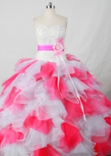Perfect Ball Gown Sweetheart Neck Floor-Length Pink Beading Quinceanera Dresses Style FA-S-405