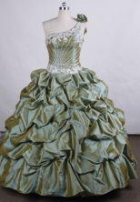 Perfect Ball gown One-shoulder Neck Floor-length Quinceanera Dresses Style FA-C-69