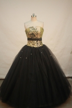 Popular Ball gown Strapless Floor-length Quinceanera Dresses Style FA-W-233