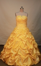Popular Ball gown Strapless Floor-length Quinceanera Dresses Style FA-W-248