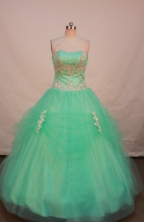 Popular Ball gown Strapless Floor-length Quinceanera Dresses Style FA-W-254
