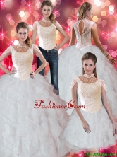 Pretty Ruffles and Beaded Quinceanera Dresses for 2015 Summer SJQDDT44001FOR