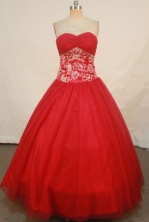 Simple Ball Gown Sweetheart Floor-length Quinceanera Dresses Appliques with Beading Style FA-Z-0282
