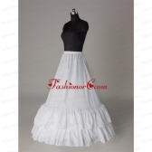 Affordable Organza Floor-length Wedding Petticoat in White ACCPTI012FOR