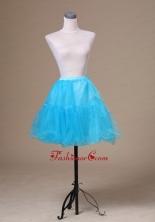 Aqua Blue Mini Length Custom Made Petticoat ACP008FOR