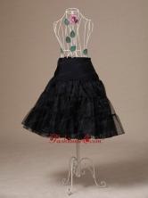 Brand New Black Organza Tea Length Wedding Petticoat ACP009FOR