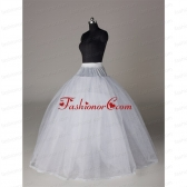 Fashionable Organza Ball Gown Floor-length Petticoat in White ACCPTI014FOR